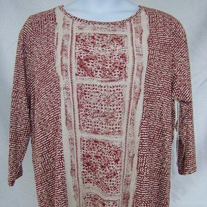 Lucky Brand Blouse Size 2 XL 3/4 Sleeves NWT
